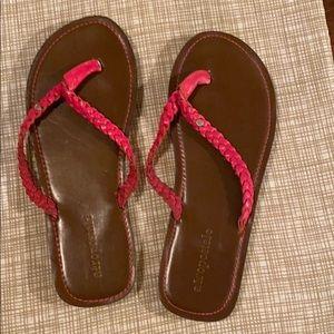 pink flop flops